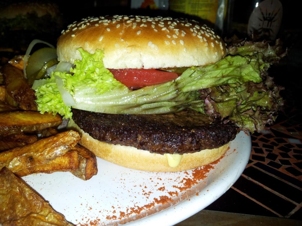 Hamburger: 8,50 mit Wedges